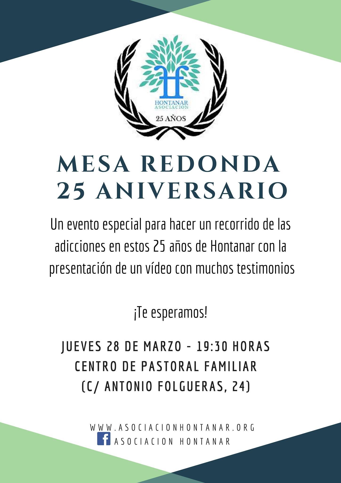 Mesa redonda 25 aniversario de Hontanar